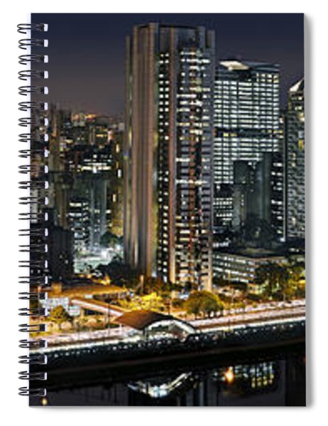 Sao Paulo Iconic Skyline - Cable-stayed Bridge  Spiral Notebook