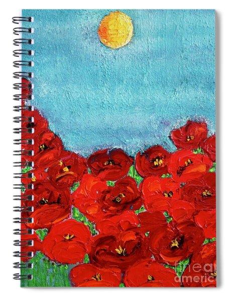 Sarah's Poppies Spiral Notebook