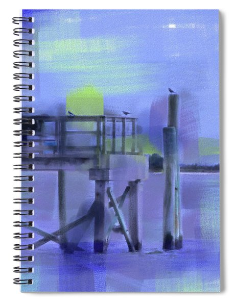 Spiral Notebook featuring the digital art Saturday Idyll by Gina Harrison