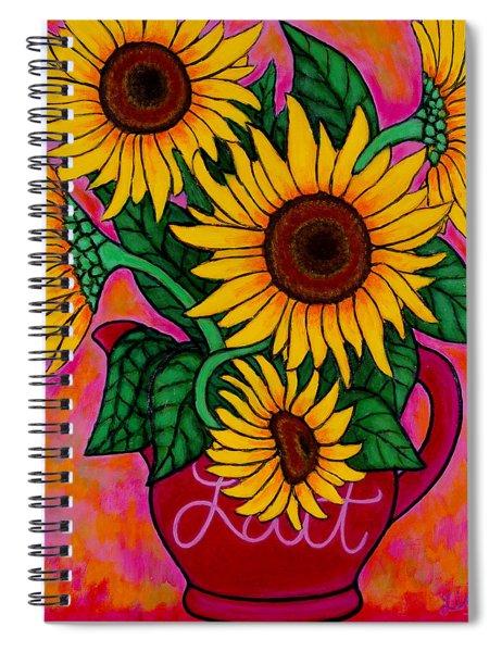 Saturday Morning Sunflowers Spiral Notebook