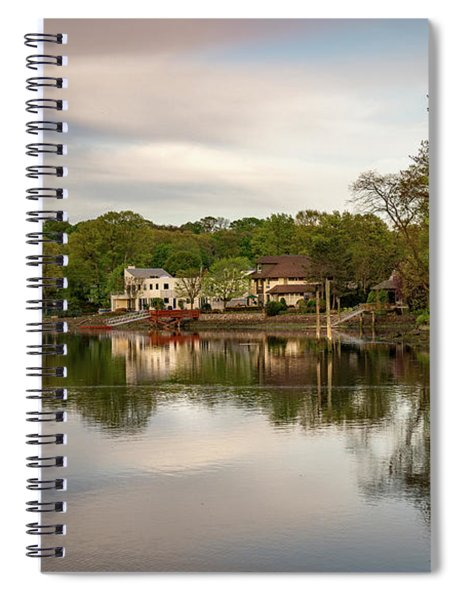 Saugatuck River Evening By Mike-hope Spiral Notebook