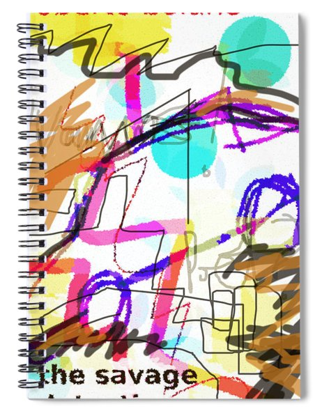 Savage Detectives Poster Bolano Spiral Notebook