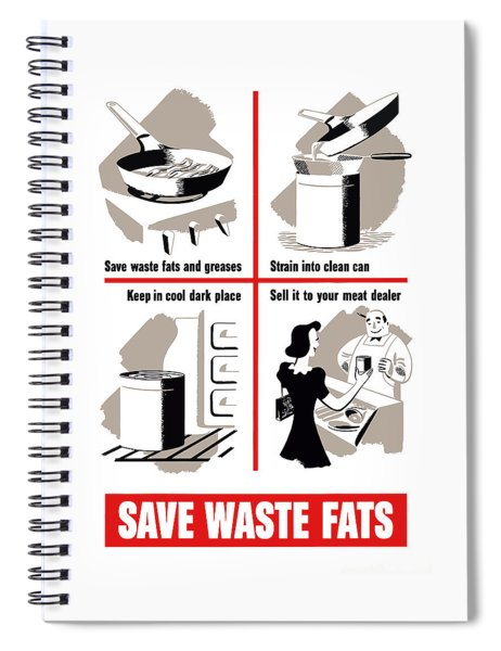Save Waste Fats - Ww2  Spiral Notebook