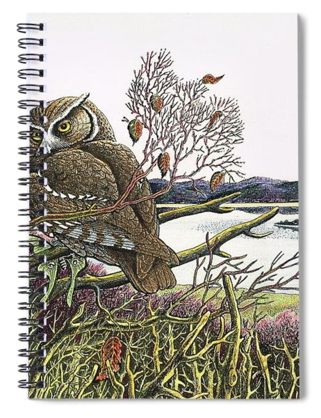 Saw Whet At Oak Bay Spiral Notebook