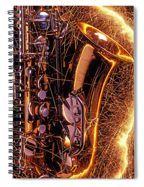 Sax With Sparks Spiral Notebook