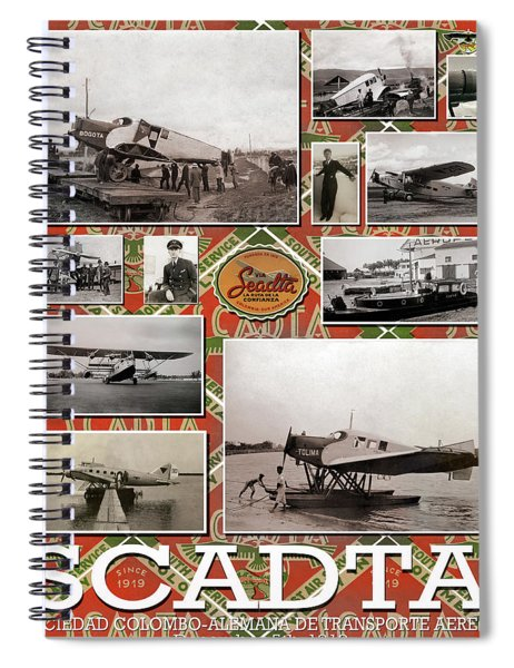 Scadta Airline Poster Spiral Notebook