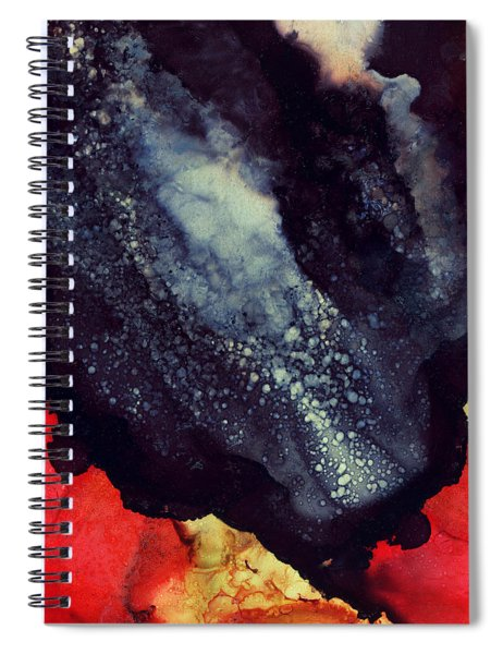 Scarlet Abstract Spiral Notebook