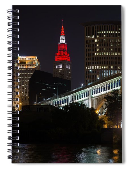 Scarlet And Gray Spiral Notebook