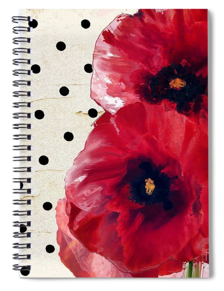 Scarlet Poppies Spiral Notebook
