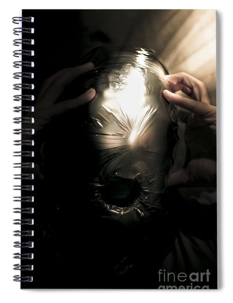 Scary Face Of Terror Spiral Notebook