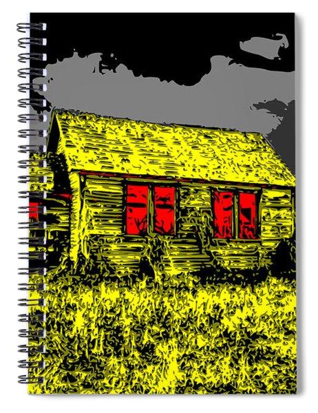 Scary Farmhouse Spiral Notebook
