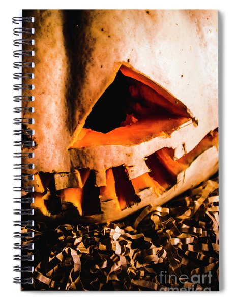 Scary Jack O Lantern. Halloween Faces Spiral Notebook