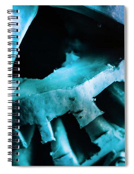 Scary Jack-o-lantern Pumpkin Detail Spiral Notebook