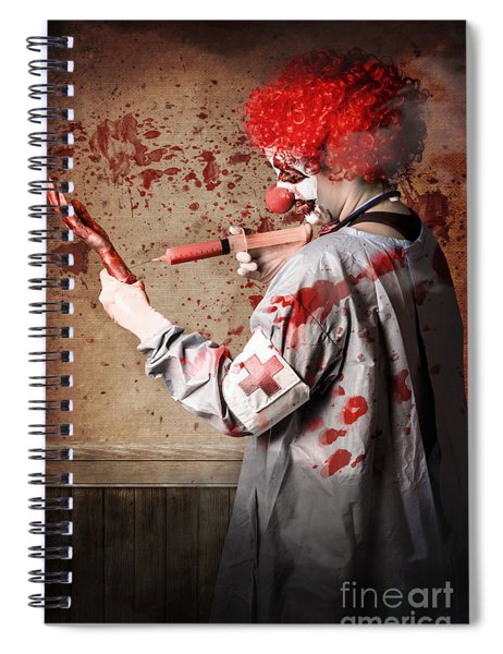Scary Medical Clown Injecting Horror Into Limb Spiral Notebook