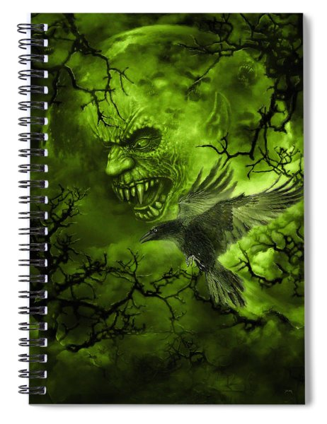 Scary Moon Spiral Notebook