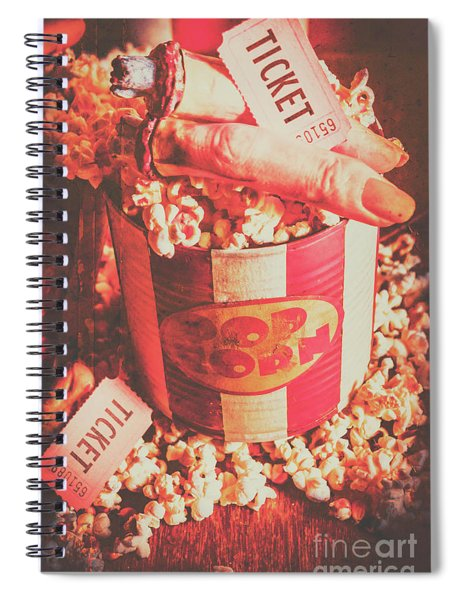 Scary Vintage B-grade Horror Movies Spiral Notebook