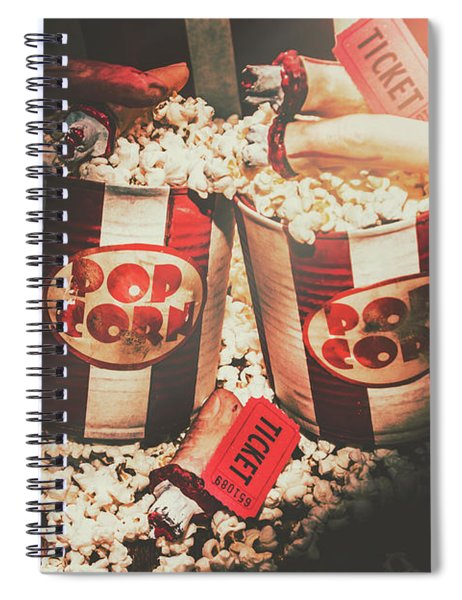 Scary Vintage Entertainment Spiral Notebook