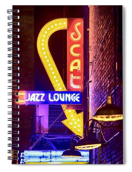 Scat Jazz Neon V3 Spiral Notebook
