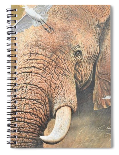 Spiral Notebook featuring the painting Scatter by Alan M Hunt