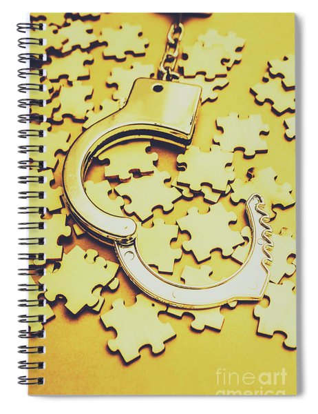 Scattered Clues In A Unsolved Investigation  Spiral Notebook