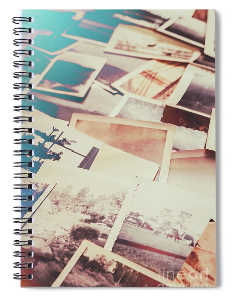 Scattered Collage Of Old Film Photography Spiral Notebook