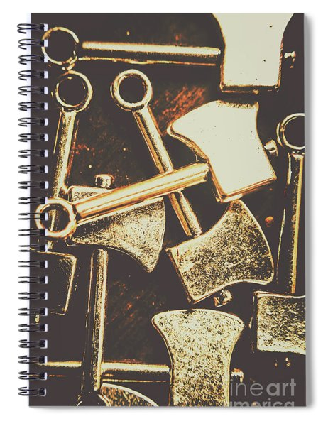 Scattering Axes Spiral Notebook