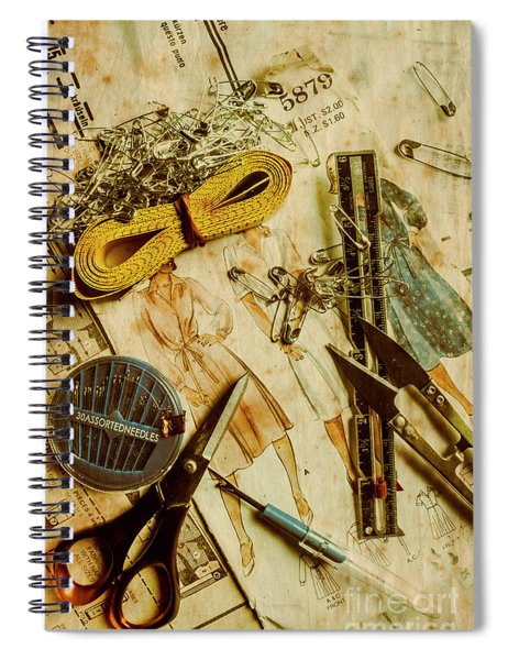 Scene From A Fifties Craft Room Spiral Notebook