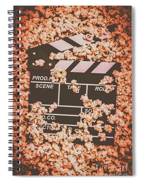 Scene From A Film Production Spiral Notebook