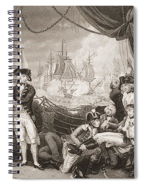 Scene On The Deck Of The Queen Spiral Notebook