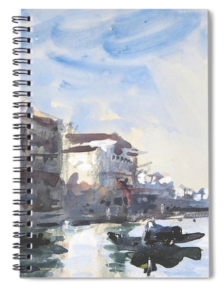 Scene On The Grand Canal, Venice Spiral Notebook