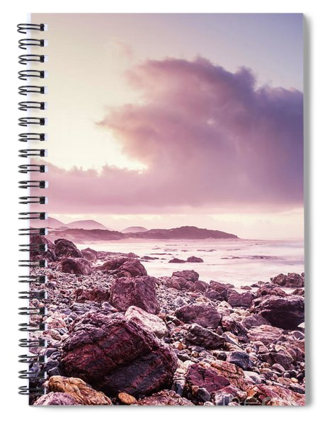 Scenic Seaside Sunrise Spiral Notebook