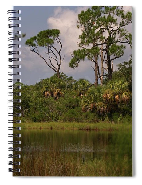 Scenic View Of Trees And A Pond Spiral Notebook