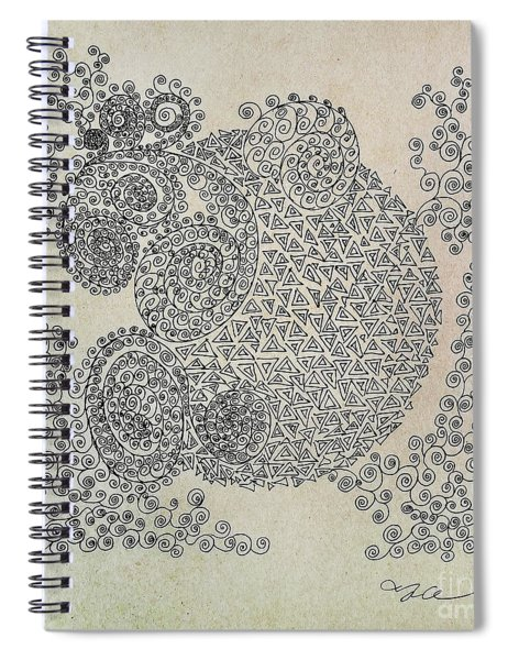 Scent Of The Lilac Spiral Notebook