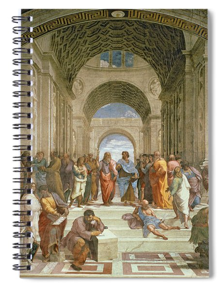 School Of Athens From The Stanza Della Segnatura Spiral Notebook