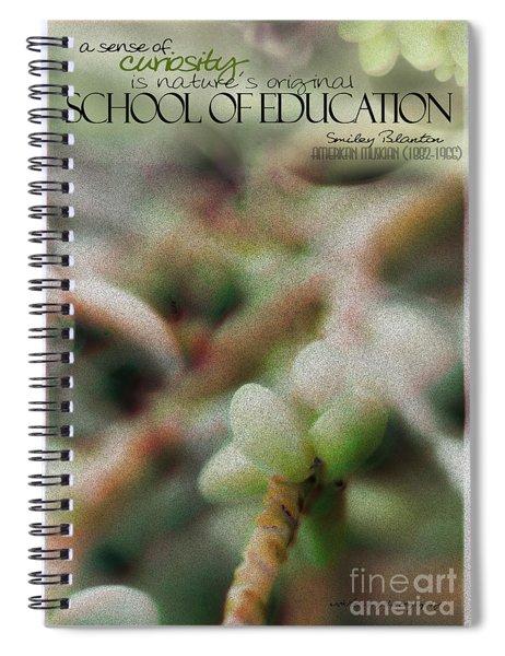 School Of Curiosity 11 Spiral Notebook
