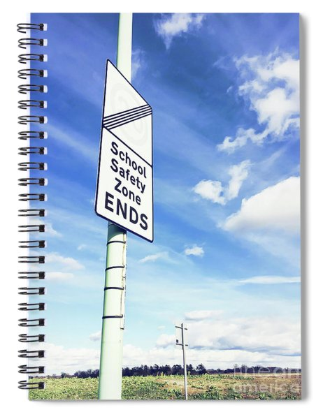 School Safety Sign Spiral Notebook