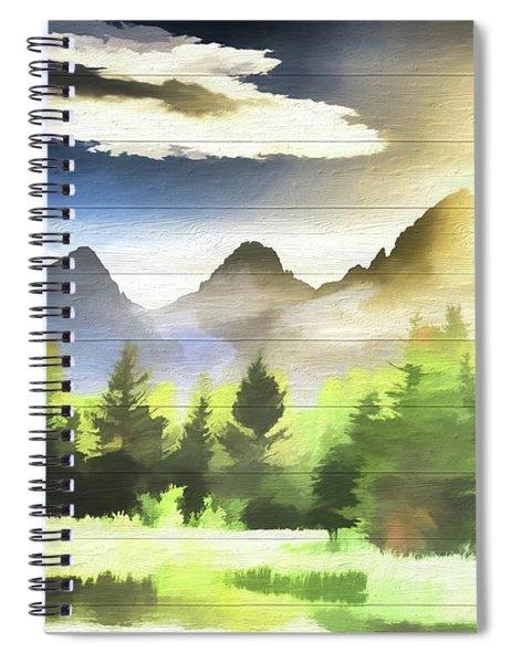 Schwabachers Landing Sunlight Spiral Notebook