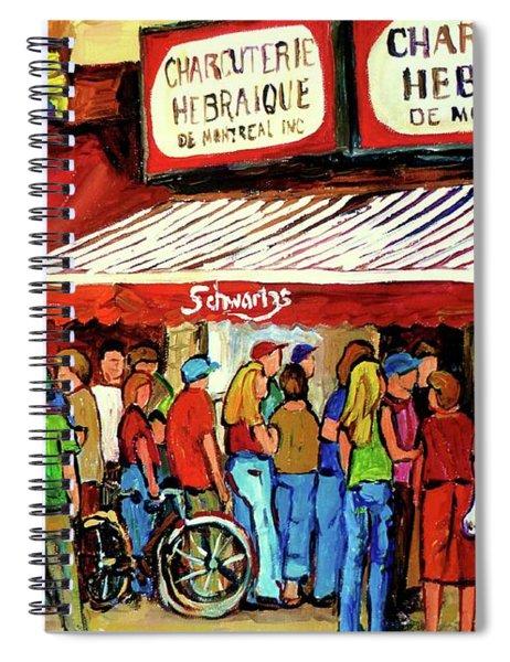 Schwartzs Deli Lineup Spiral Notebook