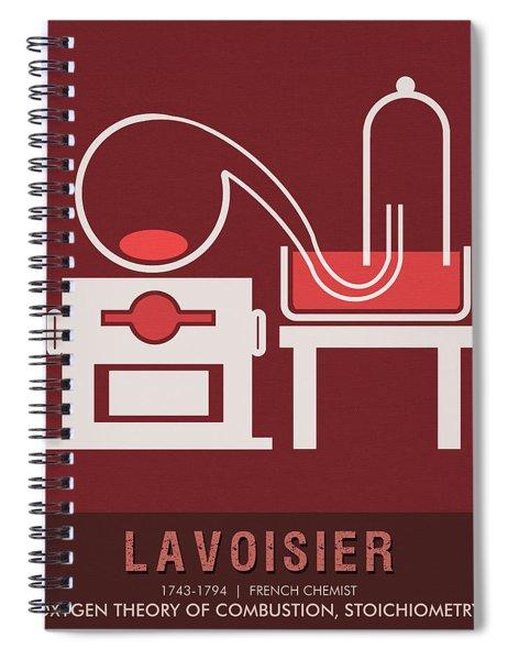 Science Posters - Antoine Lavoisier - Chemist Spiral Notebook