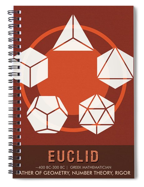 Science Posters - Euclid - Mathematician Spiral Notebook