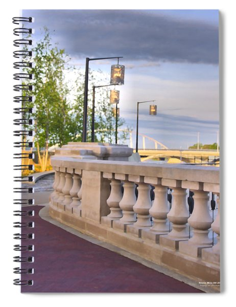 Spiral Notebook featuring the digital art Scioto Mile 29123 by Brian Gryphon