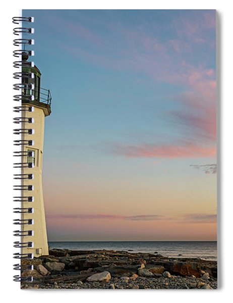 Scituate Lighthouse Scituate Massachusetts South Shore At Sunrise Spiral Notebook