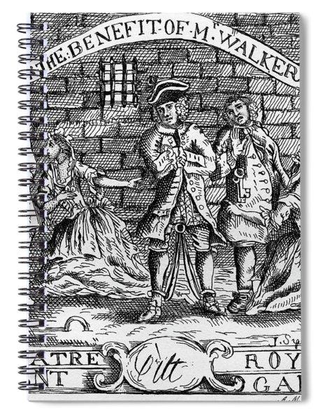 Scnene From The Beggar 's Opera By John Gay Spiral Notebook
