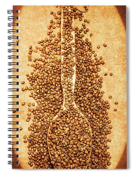 Scoop Of Nostalgia At The Coffee Bean Store Spiral Notebook