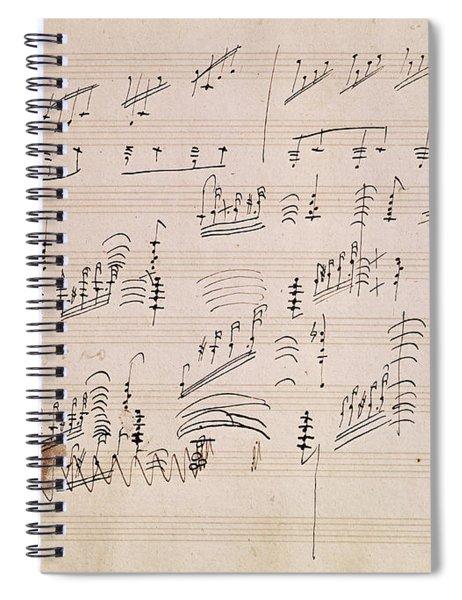 Score Sheet Of Moonlight Sonata Spiral Notebook
