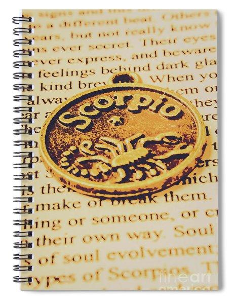 Scorpio Star Sign Token Spiral Notebook
