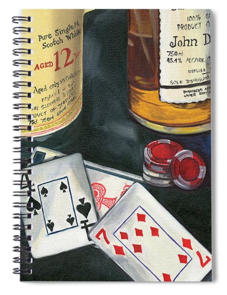 Scotch Cigars And Cards Spiral Notebook