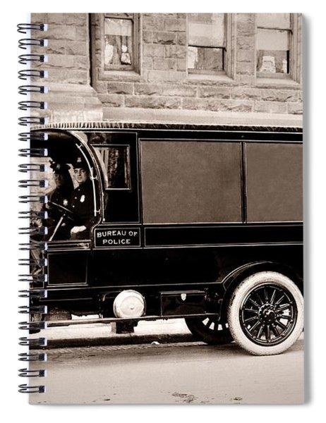 Scranton Pennsylvania  Bureau Of Police  Paddy Wagon  Early 1900s Spiral Notebook