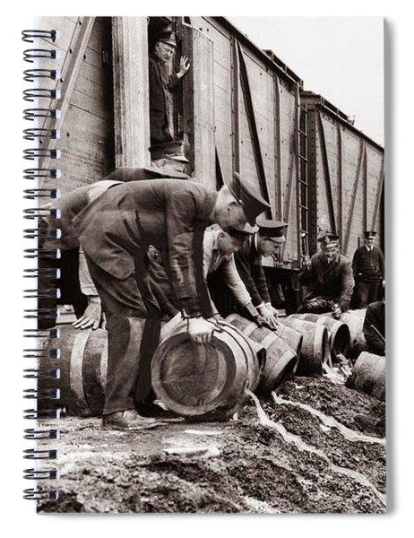 Scranton Police Dumping Beer During Prohibition  Scranton Pa 1920 To 1933 Spiral Notebook