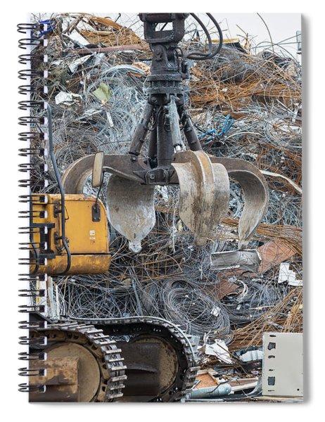 Scrap Metal Spiral Notebook
